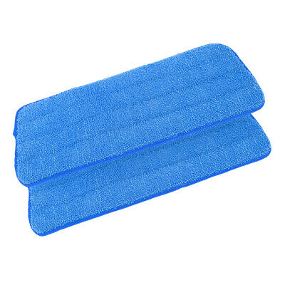 2 Pcs Free Hand Washing Spray Mop Cloths/Pads, Polyester Fiber, No-lint Blue