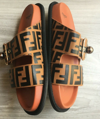 efec1edd0ef LOUIS VUITTON MONOGRAM NOMAD FLAT Sandals Shoes EURO 39 Retail  925 ...