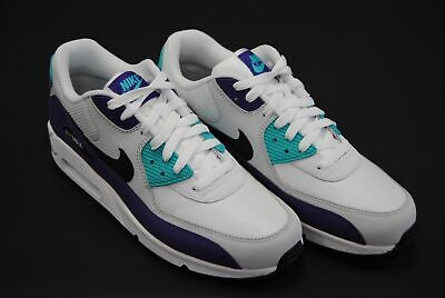low priced fd383 50990 New Men s Nike Air Max 90 Essential White Black Hyper Jade Le1131 - (Aj1285  103