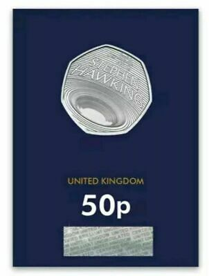 2019 Royal Mint Stephen Hawking Fifty pence 50p BU Brilliant Uncirculated coin