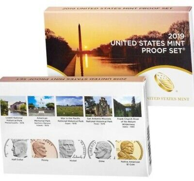 2019 S US Mint Proof Set clad 10 coin (((with out Westpoint cent))) damaged box