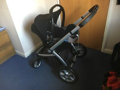 Mothercare My4 Pushchair Chassis With The Wheels And Maxi Cosi Car Seat