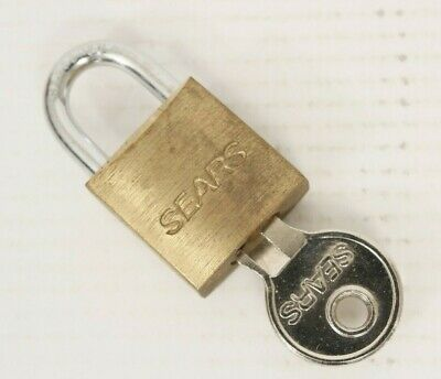 Brass Padlock and Key Small Decorative Sears Brass and Metal