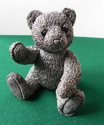 Super Very Large Sterling Silver Teddy Bear 11cm Country Artists 1996 536g (fill