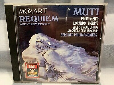 Mozart: Requiem; Ave Verum Corpus (CD, Jul-1995, EMI Music Distribution)