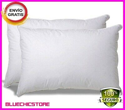 2 Pack Goose Down Feather Bed Pillows,Cotton White Luxury King Queen Standard