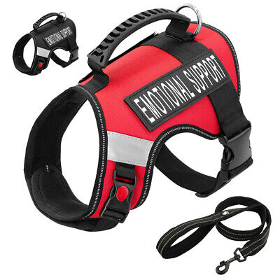 Emotional Support Dog Harness ESA Service Pet Dog Therapy Vest & Truelove Leash