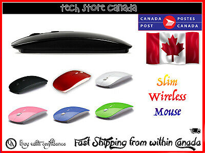 Slim 2.4GHz Optical Wireless Mouse USB 1200dpi Receiver For Laptop PC MAC