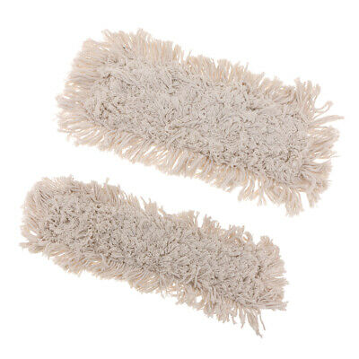 2 Pieces Cleaning Flat Mop Head Cotton large Enough for Tough Job Affordable