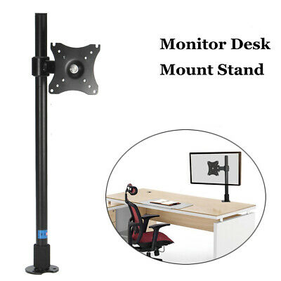 "Single Computer Monitor Arm Mount Desk Stand 14""-27"" LCD LED Screen TV Bracket"