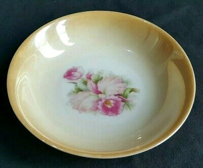 CT Altwasser Germany 28 Pink Floral Peach White Porcelain Bowl Vintage Rare
