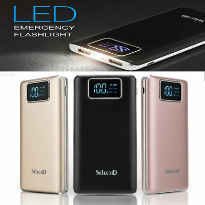 100000mAh Micro Input Dual USB Pack Power Bank Charger Travel Portable External