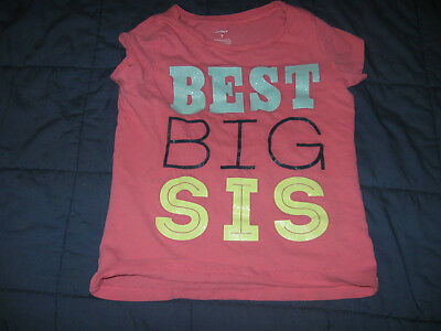 ef6efac2b NEW CARTER'S GIRLS Pink BIG SISTER Graphic Tee Top NWT 2t 5 Kid Best ...