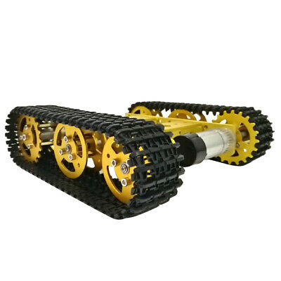 Solid Metal Robot Smart Tank Chassis Crawler Car 9V with Motor
