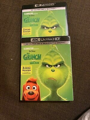 "Dr Seuss THE GRINCH (BLU-RAY + DIGITAL) w/Slipcover 2019 ""Canada Edition"""