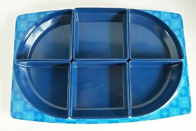 Vintage Bessemer Serving Dishes Platter Tray, Europa, Blue, Retro (2289)
