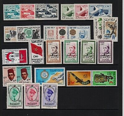 Morocco - 27 different Mint, NH stamps