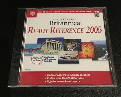 Encyclopedia Britannica Ready Reference 2005