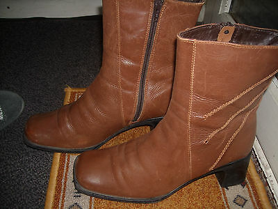 BOTTES BOTTINES VINTAGE Marron « JULIET » T. 40