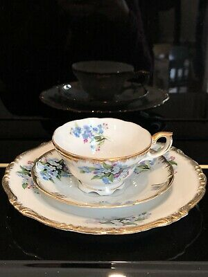 Beautiful Vintage Bone China Teacup Saucer And Plate 3 Pieces Set Make In Japan