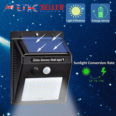20 LED Outdoor Waterproof Solar Powered Fence Lights for Garden Patio 100% New