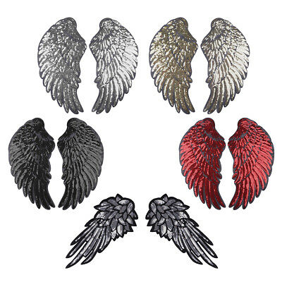 Embroidery Feather Wings Stickers Patches Sew-on Applique Badges DIY Grafts Bags