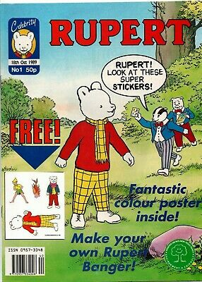Vintage Rupert Bear comic Celebrity comics No. 1 18th Oct 1989 - Mint - complete