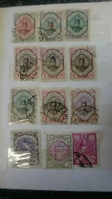 Persian: Collection Stamps  1870-1925 In Album