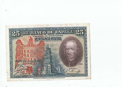 Spain  25  Pesetas  1928  Eagle  Overprint