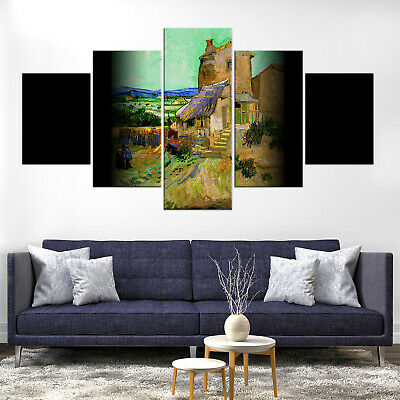 Vincent Van Gogh The Old Mill Canvas Print Painting Framed Home Decor Wall Art