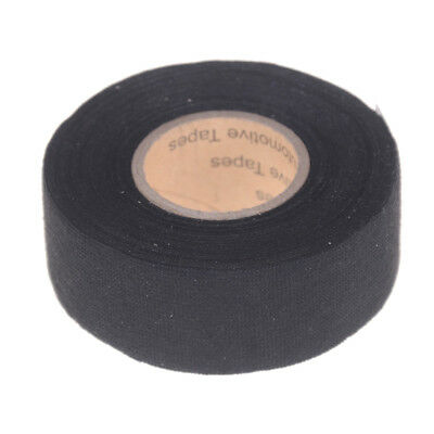 Black 32mm*12m Adhesive Cloth Fabric Tape Cable Looms Wiring Harness_TI