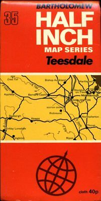 1968 vintage Bartholomew Half-inch map No 35 Teesdale