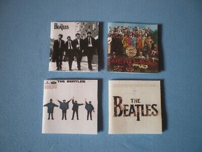 Dolls House miniatures - music album covers - THE BEATLES x 4