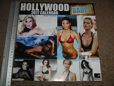 Hollywood Babes Unofficial Calendar 2017 Used