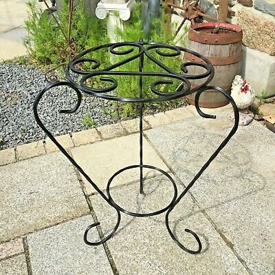 Vintage French Wrought Iron Plant Pot Stand holder handmade