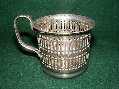 Vintage Regis Silver Plated Cup Glass Outer Holder Epns Pierced Design
