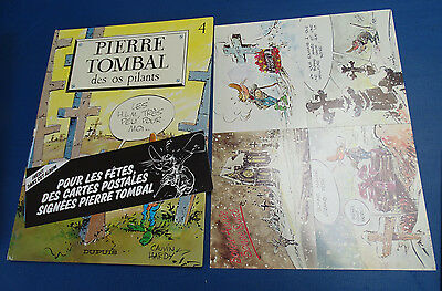 Caunvin & Hardy : Pierre Tombal 4 EO Complet cartes postales & bandeau
