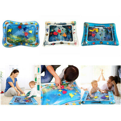 Inflatable Fun Water Play Mat for Kids Baby Children Infants Best Tummy Time AU