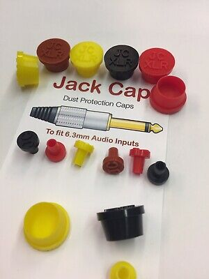 4 x JackCaps for Behringer MS-101 JACK CAP Dust Plug Protection Red 0 XLR