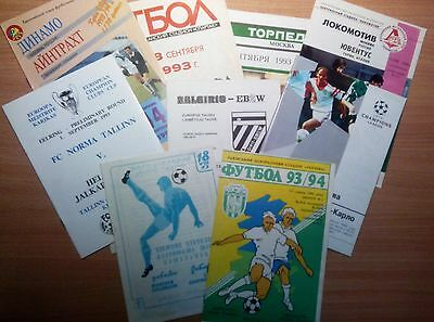 UEFA Cup 1992 - 2000 MATCH PROGRAMMES