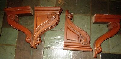 Enkeboll Carved Corbel Leaf Design Acan Architectural Shelf Bracket; 7 Available