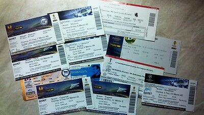 1992/93 - 2014/15 EС TICKETS from RUSSIA updated APRIL 2019 Read description