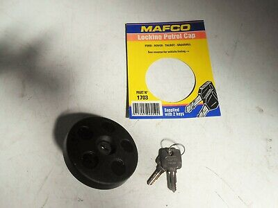 Mafco Lockable Fuel Cap Vauxhall VX Ventora Hillman Minx sealed with 2 keys