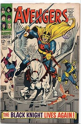THE AVENGERS #48 Silver Age Marvel Comics 1968 FN/VF