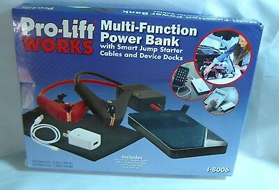 Portable ProLift Works Multi Function Power Bank With Smart Jump Starter Cables