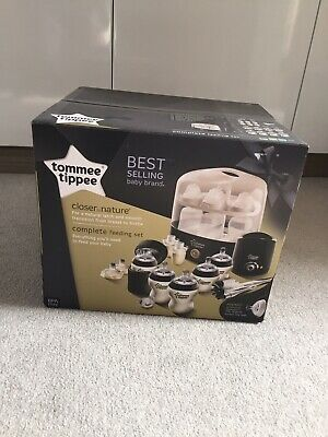 Tommee Tippee Closer to Nature Complete Feeding Set - BLACK - BRAND NEW SEALED