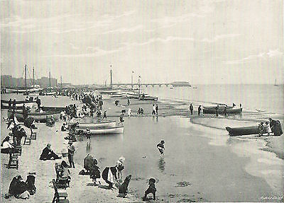 Great Yarmouth Beach Norfolk 1900 Single Sided Antique Print Picture SASIEAW#221