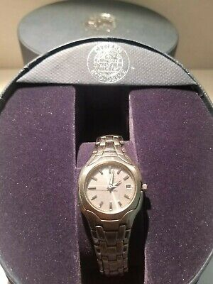 Citizen Eco Drive ladies Watch EW1250-54A Grey Dial Date display #A22