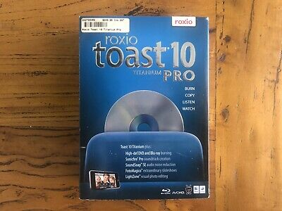 Roxio Toast 10 Titanium for Mac Burn Copy Listen Watch  - Free Shipping