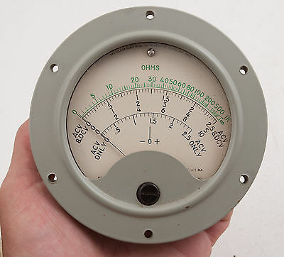 Hickok Electrical Instrument Gauge 48R Steampunk (E3R-2) Ohms Meter 481 345 c58